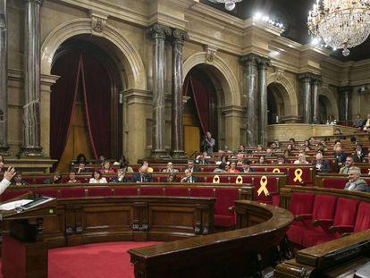 Inés Arrimadas interviene en el pleno de investidura de Quim Torra, el 12 de mayo de 2018.