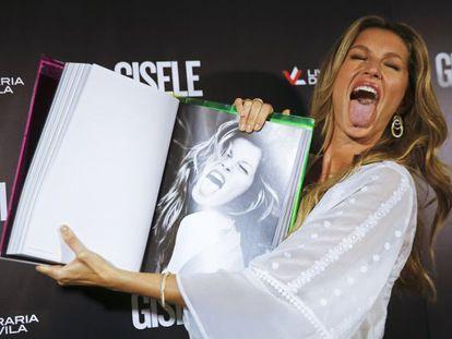 Gisele Bündchen, el pasado viernes en la presentación de su libro en São Paulo.