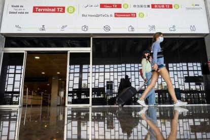 La T2 del aeropuerto de Barcelona, que reabrió esta semana.