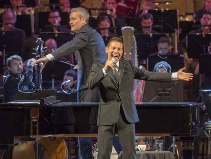 Michael Feinstein durante su actuación en el Palau de la Música de Barcelona.