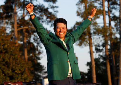 Matsuyama, con la chaqueta verde.