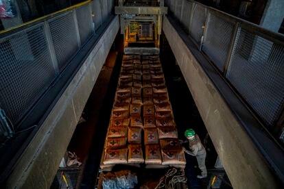 El interior de la fábrica de cemento de Cruz Azul, en el Estado mexicano de Hidalgo.