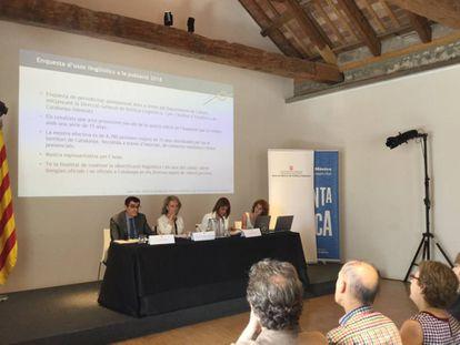Presentación de la encuesta de usos lingüísticos 2018 de la Generalitat de Cataluña.