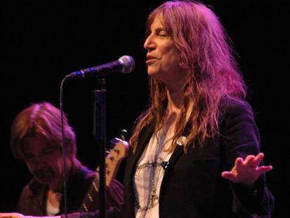 Patti Smith en una actuación de 2010