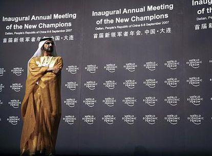 Mohamed Bin Rashid al Maktoum, presidente de ICD, en un foro económico en China el pasado año.