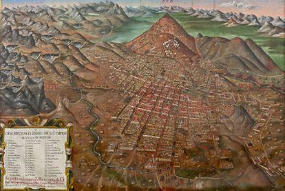<i>Descripción del cerro rico e imperial Villa de Potosí</i> (1758), de Gaspar M. de Berrio.