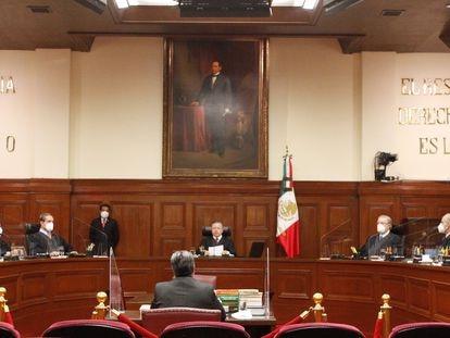 La Suprema Corte de Justicia de la Nación durante el inicio del segundo periodo de sesiones del año.