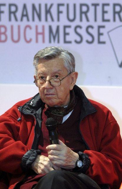 Francisco Solano López, en una fotografía tomada en la Feria del Libro de Fráncfort.