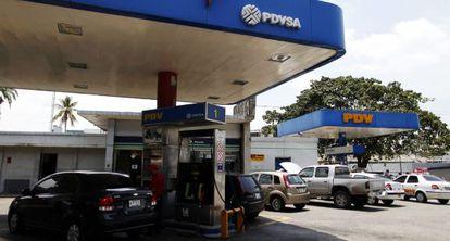 Una estación de la empresa estatal PDVSA.