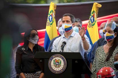 El opositor venezolano Juan Guaidó, este miércoles en Caracas.