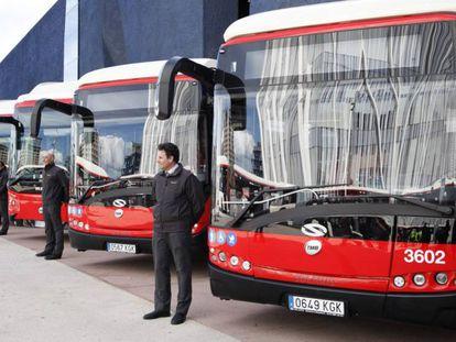 Los nuevos autobuses adquiridos por TMB