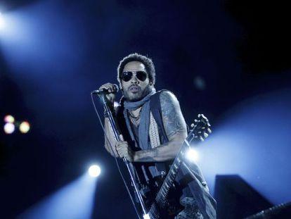 Lenny Kravitz en concierto en Rock in Rio.