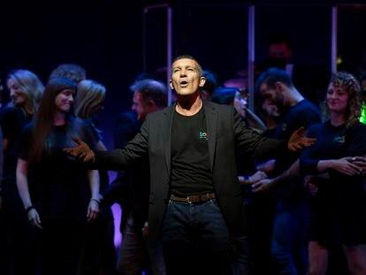 Antonio Banderas, en el Teatro del Soho, en octubre pasado.