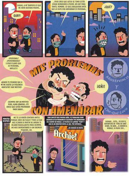 <b>Reproducción de una página del cómic <i>Mis problemas con Amenábar</i>, cuyo guionista es Jordi Costa</b>