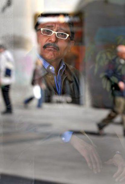 El escritor mexicano Sergio González Rodríguez, en Madrid.