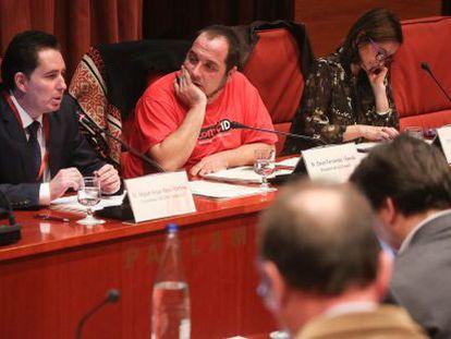 Miguel Ángel Mayo, David Fernández y Esther Andreu.