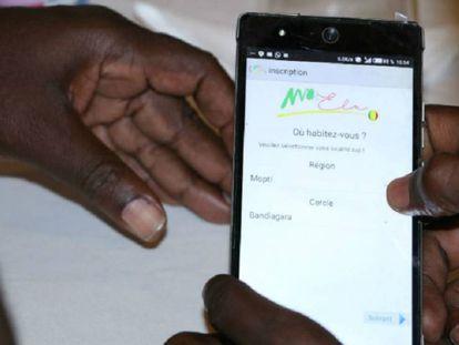 Una imagen de una app de Mali.