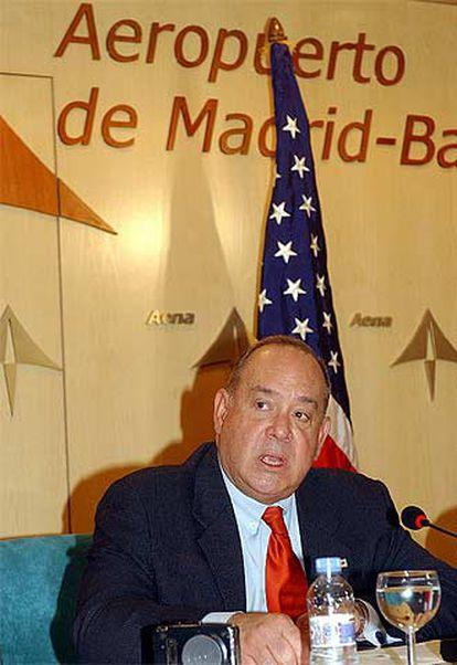 Eduardo Aguirre, poco después de su llegada a Madrid el pasado domingo.