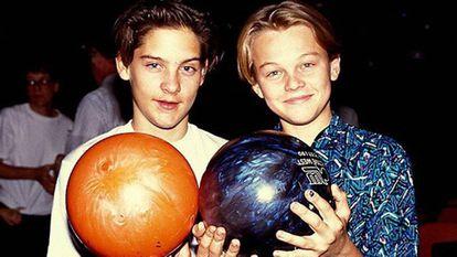 Leonardo y Tobey Maguire, amigos desde la infancia.