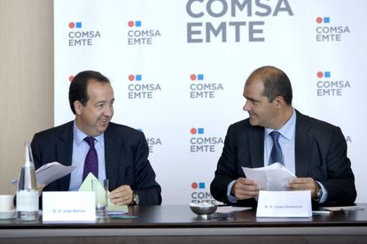 Jorge Miarnau (izq.) con Carles Sumarroca, en 2009.