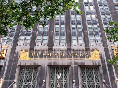 El hotel Waldorf Astoria de Nueva York, fotografiado en septiembre de 2009.