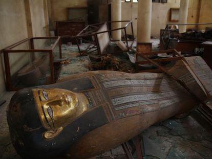 El Museo de Malawi, en Egipto, fue saqueado en 2013.