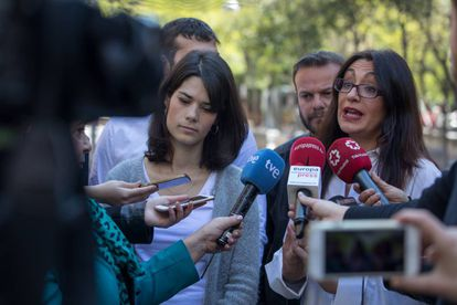 Isabel Serra (Podemos) y Sol Sánchez (IU) presentan la alianza de los dos