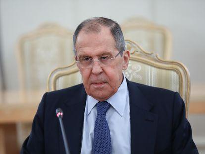 Sergei Lavrov, ministro de Exteriores de Rusia, el pasado 16 de abril en Moscú.