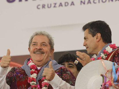 Lula y Peña Nieto en la presentación de la Cruzada contra el Hambre.