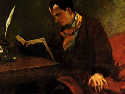 Charles Baudelaire, retratado por Courbet en 1847.