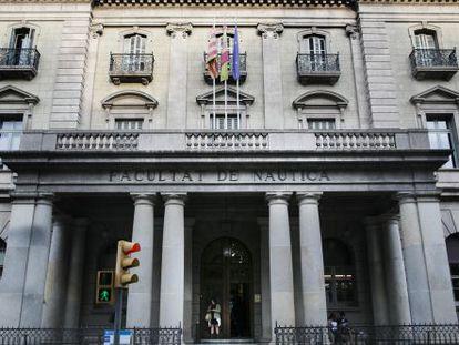 Facultad de Náutica, ubicada en el Pla de Palau.
