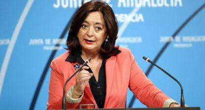 La consejera Mar Moreno, en una conferencia de prensa.