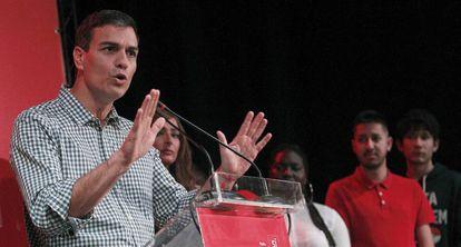 El precandidato a la Secretaría General del PSOE Pedro Sánchez.