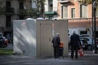 El lavabo público de Pla de Palau es uno de los que se han retirado