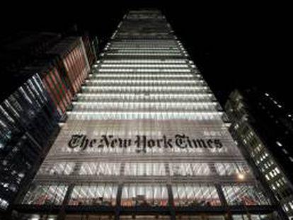 Imagen de la sede del New York Times en Nueva York (EE.UU.). EFE/Archivo