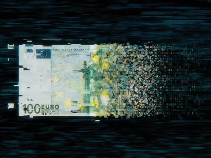 El euro digital se alojará en un monedero virtual con el que se podrán efectuar las mismas transacciones que se realizan con las monedas y los billetes.
