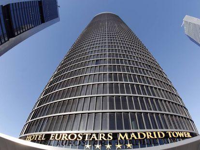 La fachada del hotel Eurostars de Madrid, del Grupo Hotusa, en una foto de archivo.