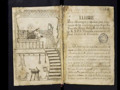 Ilustración del libro 'Art de la cuyna', del fraile Francesc Roger.