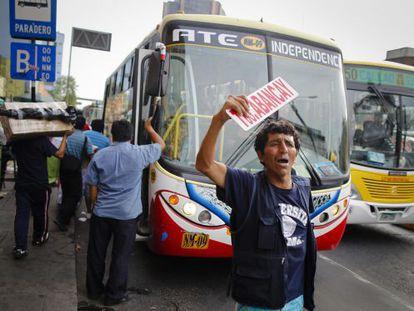 Un autobús en Lima.
