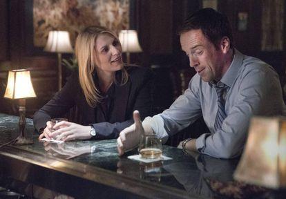 Claire Danes y Damian Lewis, en la segunda temporada de 'Homeland'.