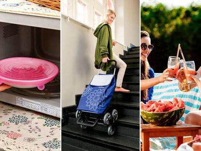 Tapas de silicona, carritos de compra, pajitas de acero, bambú o silicona y otras alternativas al plástico y el papel.