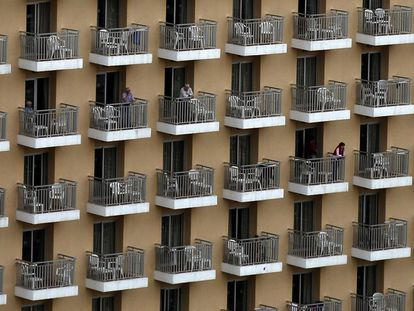 Balcones de un hotel de Benidorm.