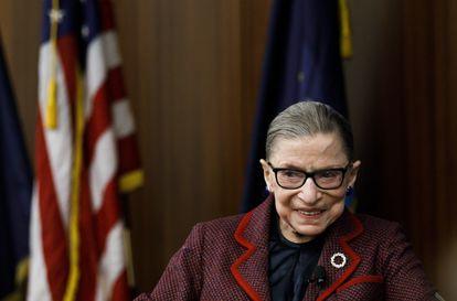 Ruth Bader Ginsburg, la juez del Tribunal Supremo de Estados Unidos fallecida recientemente. en 2018.