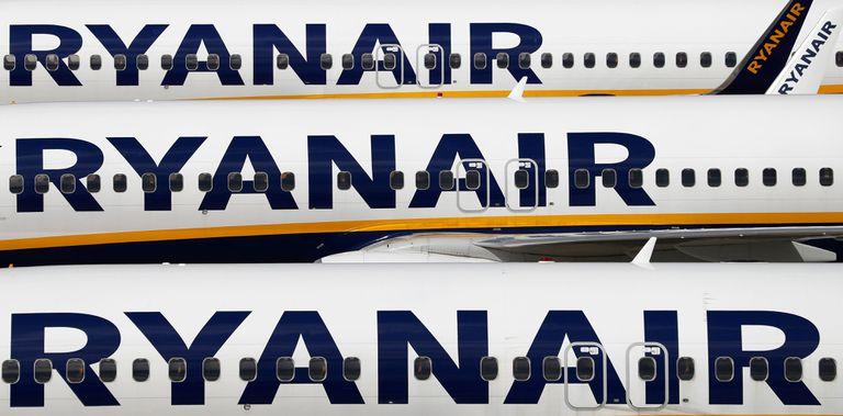 Aviones de Ryanair en el aeropuerto de Stansted, el noroeste de Londres.