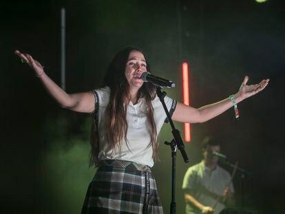 Rigoberta Bandini, la noche del viernes en el Vida Festival en Vilanova i la Geltru.