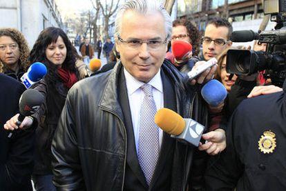 Garzón, el 7 de marzo a su llegada al Supremo para declarar por el caso de las escuchas de Gürtel.