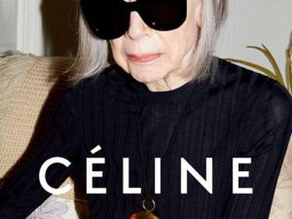Joan Didion como imagen de la firma Céline.