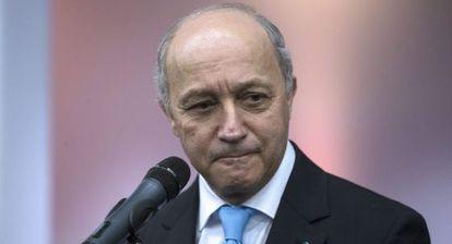 El ministro francés de Exteriores, Laurent Fabius, en la Cumbre del Clima.