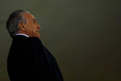 El presidente interino de Brasil, Michel Temer, en la recepeción a los atletas olímpicos