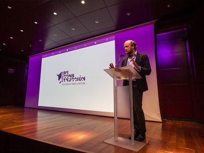 Borja Cardelús, director general de la Fundación Toro de Lidia, en el acto de presentación de los datos económicos.